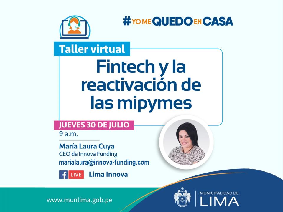 Evento Fintech con Innova Funding - factoring - herramientas financieras -  MIPYMES